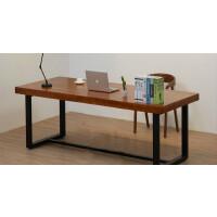 北欧实木电脑桌台式家用游戏学习书桌美式简易双人四人位大办公桌 300*120*75cm木板厚8公分