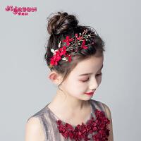 女童发饰红色发夹公主韩版百搭饰品儿童头饰头花发卡花环