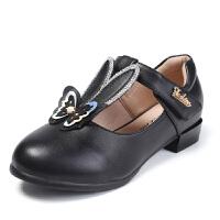 女童皮鞋春秋公主鞋儿童单鞋女兔耳朵真皮演出小跟鞋