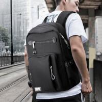 新款学院风电脑背包时尚潮流男士旅行包男双肩包 韩版大高中学生书包背包
