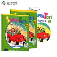 Super tots 3A3B学生书+一本家长手册 原装进口培生朗文幼儿英文英语早教启蒙教材 幼儿园英语初级入门3-6