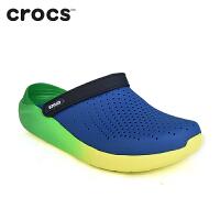 【节日钜惠】Crocs洞洞鞋 卡骆驰2018新款 LiteRide渐变克骆格平底凉鞋|205070 LiteRide渐