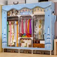 简易衣柜钢管加粗加固布衣柜布艺简约现代经济型组装衣橱收纳柜子2564