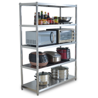 不锈钢厨房置物架收纳整理架置物架层架落地多层仓库货架收纳架子