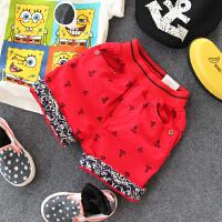 儿童短裤 夏季韩版童装新品 男童印花可翻边短裤小孩裤子