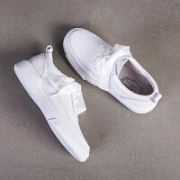 玛菲玛图新款厚底小白鞋女系带学生百搭韩版单鞋女平底533-7B
