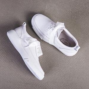 玛菲玛图新款厚底小白鞋女系带学生百搭韩版单鞋女平底M1981533T7B