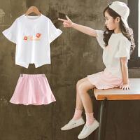 中大女童夏装新款时髦套装韩版洋气时尚潮童装儿童夏季两件套