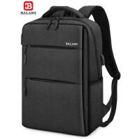 巴朗男士背包学生书包时尚潮流商务出差大容量双肩包15.6寸电脑包
