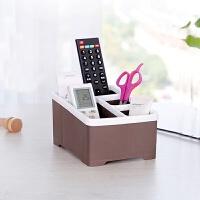 桌面遥控器收纳盒塑料办公桌茶几桌上遥控文具小件物品胶带收纳盒