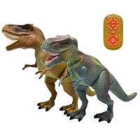 电动恐龙玩具 仿真霸王龙动物模型 智能遥控会走大号恐龙儿童玩具 颜色随机