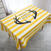 黄色现代简约几何餐桌布艺圆桌布北欧茶几布长方形麋鹿盖巾布