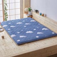 床垫1.2米榻榻米地铺睡垫学生宿舍加厚海绵1.5m1.8双人床褥子垫被