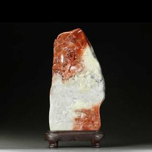 寿山巧色芙蓉石 精雕指日高升 三子大摆件 收藏佳品 p3086