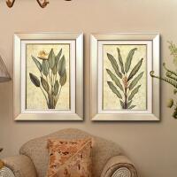 装饰画 有框画 叶 简约风格 客厅 家装饰品 深卡其布色 其他长方形尺寸 单幅
