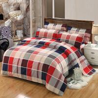 加厚美式四件套三件套1.2/1.5/1.8床素色双拼纯色波点床上用品床单被套婚庆4件套
