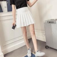 百褶裙春夏女2018新款学生韩版短款修身裙高腰短裙女学生半身裙女