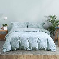 水星出品 简色生活 全棉磨毛四件套活性印花套件床单被罩床上用品 温莎之梦