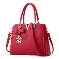 女士包包斜挎包女包手提包简约潮单肩包大包时尚包欧美女 酒红色