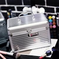 3件7折韩国铝合金化妆包手提多层大容量化妆箱美甲工具护肤品收纳包
