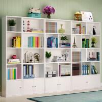 书柜自由组合置物架简约带门书橱非实木现代储物柜子简易书架落地o6b