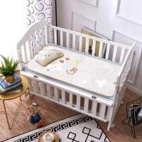 婴儿冰丝凉席夏季透气婴儿床凉席夏天宝宝幼儿园午睡小席子套 0cmX60cm