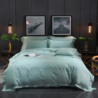 秋冬保暖加厚磨毛四件套 床上用品1.8m被套纯色床笠4件套