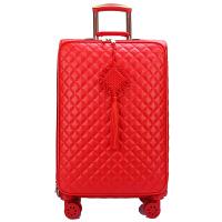 红色行李箱结婚箱子陪嫁箱婚庆拉杆箱女子母皮箱新娘旅行箱万向轮SN4335