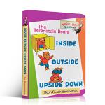【顺丰包邮】英文原版 幼儿空间概念培养 Inside Outside Upside Down 里/外面、上/下面 Be