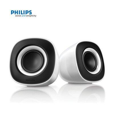 Philips/飞利浦 SPA2201 电脑音响USB供电台式笔记本低音炮 黑白色 家电自营  黑白色