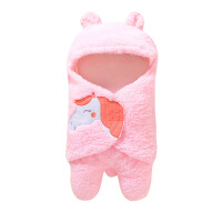 毛毯热批婴幼儿柔软秋冬款毛绒襁褓卡通毛绒抱被毛毯分脚 均码