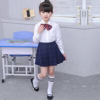 新款幼儿园园服小学生班服英伦学院风校服春秋季儿童针织毛衣套装