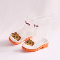 儿童透明雨鞋男童可爱靴子女童防滑雨靴四季通用水鞋卡通公主胶鞋