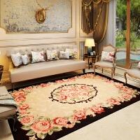 ???田园地毯欧式客厅茶几地毯 卧室地毯新古典卧室床边毯可水洗