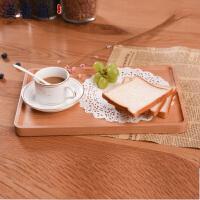 汉馨堂 托盘 长方形披萨盘实木早餐水果盘榉木茶盘蛋糕盘子糖果盘