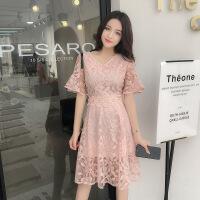 2018夏季新款蕾丝连衣裙子女夏天甜美气质韩版修身显瘦
