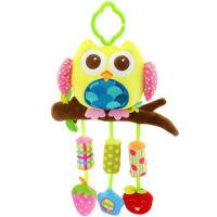 宝宝摇铃床头铃床挂风铃 婴儿风铃推车挂件铃响纸玩具 黄色猫头鹰 风铃