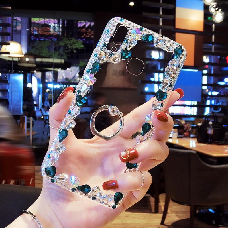 苹果手机壳边框水钻iphoneXSMAX奢华保护套XS创意支架网红女潮