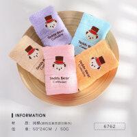 儿童毛巾 洗脸 童巾4条装 可爱卡通宝宝柔软吸水小毛巾