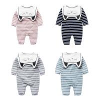 婴儿连体衣服新生儿春秋装夏款0-1岁4个月满月春季休闲睡衣外出服