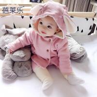 婴儿童男童卫衣服加绒加厚外套装秋冬季宝宝冬装2打底衫0岁1棉衣3