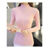 半高领毛衣女士秋冬新款2018内搭加绒加厚长袖修身紧身针织打底衫