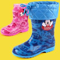 儿童雨鞋防滑男童女童宝宝雨靴冬小童胶鞋小孩学生水鞋加绒 jt7