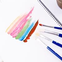 四支装 水彩/水粉画笔 得力初学者画笔套装3号5号7号9号学生画笔套装