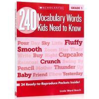 【现货】英文原版 一年级孩子(6岁)需要知道的240个单词 240 Vocabulary Words Kids Need