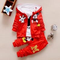 童装男童套装1春装2儿童秋装3宝宝4衣服0-5岁小孩长袖迷彩三件套