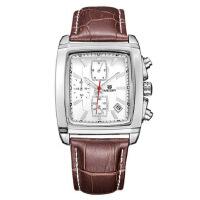 韩版时尚潮流男士手表 瑞士三眼防水运动石英手表腕表