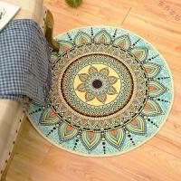 圆形地毯民族风书房电脑椅地垫家用脚垫客厅圆毯进门垫