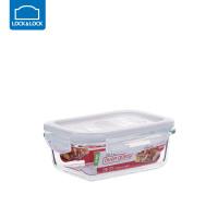 乐扣乐扣保鲜盒耐热玻璃饭盒微波炉烤箱可用密封碗便当碗冰箱储物 长【380ml】