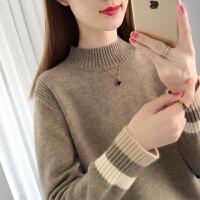 【爆款力荐】半高领毛衣女装2020秋冬新款宽松外穿短款内搭加厚洋气针织打底衫